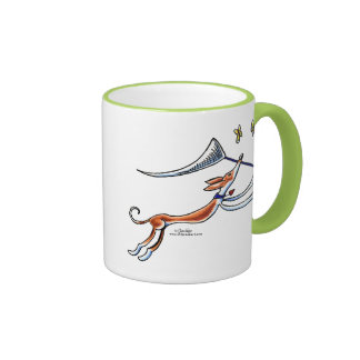 Ibizan Hound Butterflies Coffee Mugs