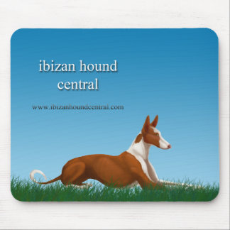 Ibizan Hound Central Mouse Pad