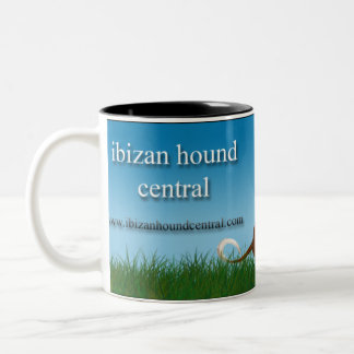 Ibizan Hound Central Two-Tone Coffee Mug