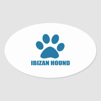 IBIZAN HOUND DOG DESIGNS OVAL STICKER