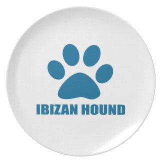 IBIZAN HOUND DOG DESIGNS PLATE