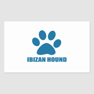 IBIZAN HOUND DOG DESIGNS RECTANGULAR STICKER