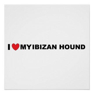 ibizan hound love poster