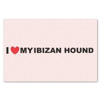 ibizan hound love tissue paper
