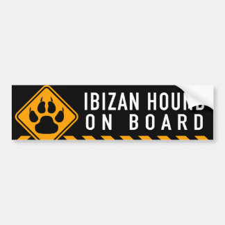 Ibizan Hound On Board Bumper Sticker