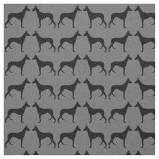 Ibizan Hound Silhouettes Pattern Fabric