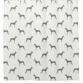 Ibizan Hound Silhouettes Pattern Shower Curtain
