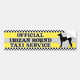 Ibizan Hound Taxi Service Bumper Sticker