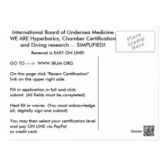 IBUM Renewal card Postcard