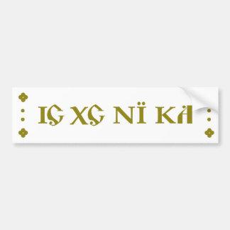 IC XC NI KA Orthodox bumper sticker green