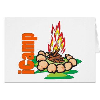 iCamp Camping Shirt Greeting Card
