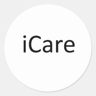 iCare Round Sticker