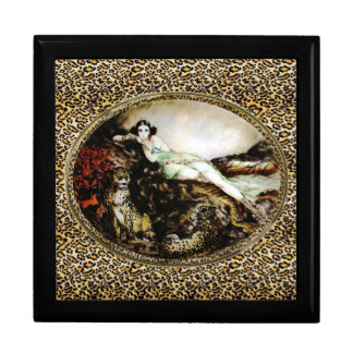 Icart Lounging Leopard Lady Gift Box
