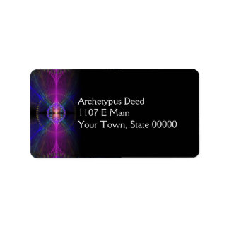 Icarus Abstract Fractal Design Address Label