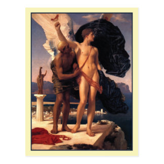 Icarus and Daedalus by Frederick Leighton Postcard