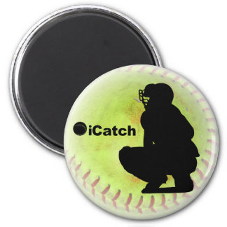 iCatch Fastpitch Softball 6 Cm Round Magnet