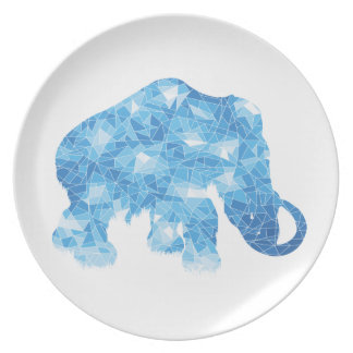 Ice Age Blue Crystal Mammoth Dinner Plate