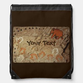 Ice Age Cave Art Drawstring Bag