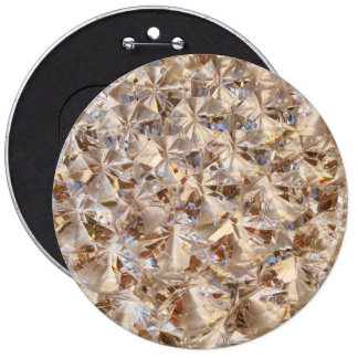 Ice Amber Diamond Crystals Glitter Bling 6 Cm Round Badge