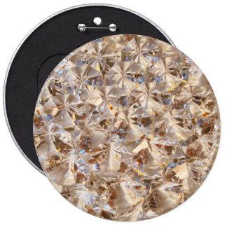 Ice Amber Diamond Crystals Style Bling 6 Cm Round Badge