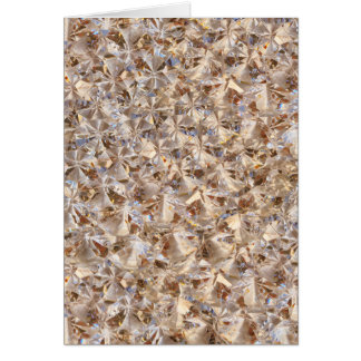 Ice Amber Diamond Crystals Style Bling Greeting Card