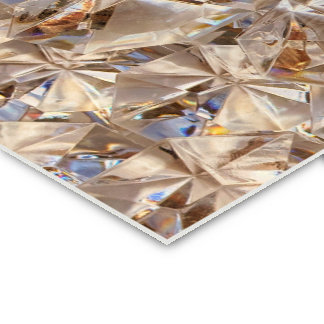 Ice Amber Diamond Crystals Style Bling Pack Of Standard Business Cards