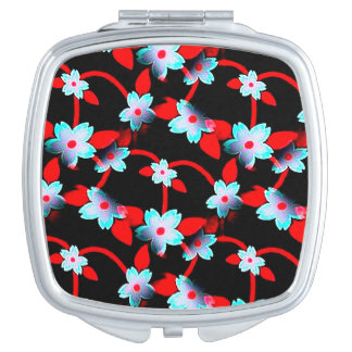 Ice and Fire Vine Pattern Compact Mirrors