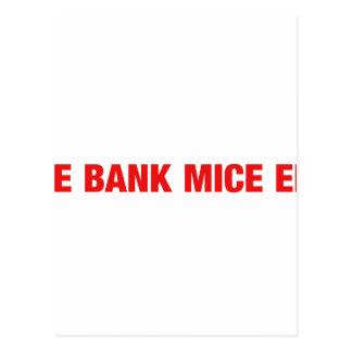 Ice bank mice elf postcard