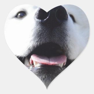 """Ice Bear"" 001 Heart Sticker"