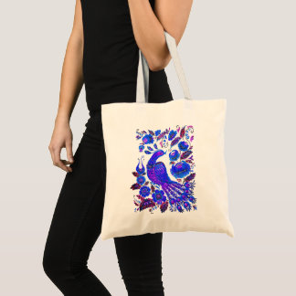 Ice bird petrykivka ukrainian art tote bag