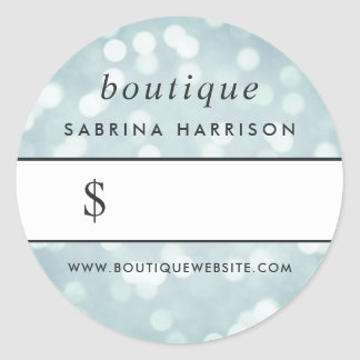 Ice Blue Bokeh | Boutique Price Sticker