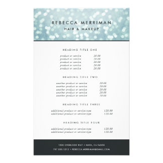 Ice Blue Bokeh Pricing & Services 14 Cm X 21.5 Cm Flyer