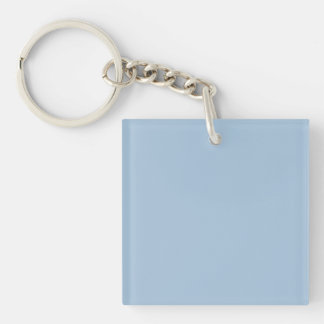 Ice Blue Color Trend Blank Template Single-Sided Square Acrylic Key Ring