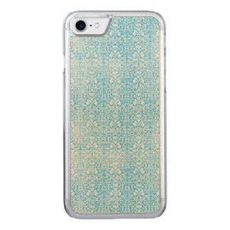 Ice Blue Damask Weathered Pattern Carved iPhone 8/7 Case
