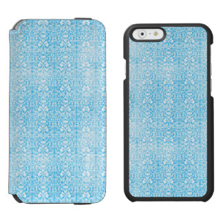 Ice Blue Damask Weathered Pattern Incipio Watson™ iPhone 6 Wallet Case