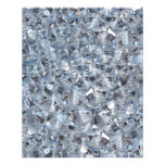 Ice Blue Diamond Crystals Glitter Bling 11.5 Cm X 14 Cm Flyer