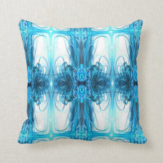 Ice blue magic Art design Cushion