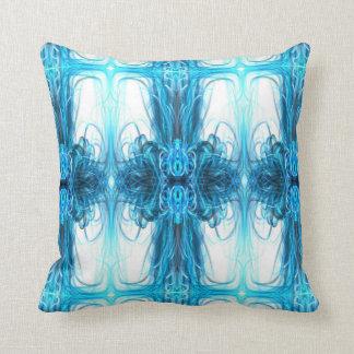 Ice blue magic Art design Throw Pillow