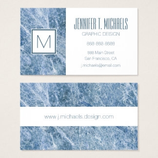 Ice Blue Marble Texture Business Card
