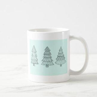 Ice blue pastel elegant stylish Christmas trees Coffee Mug