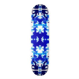 Ice Blue Snowboarder Ice Sky Tile 21.6 Cm Old School Skateboard Deck