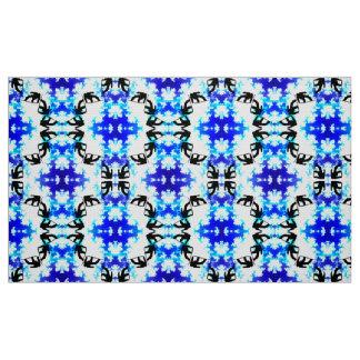 Ice Blue Snowboarder Sky Tile Snowboarding Sport Fabric