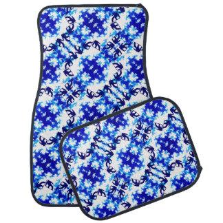 Ice Blue Snowboarder Sky Tile Snowboarding Sport Floor Mat