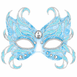 Ice blue Venetian mask Photo Sculpture Decoration