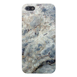 Ice blue white marble stone finish iPhone 5 cover