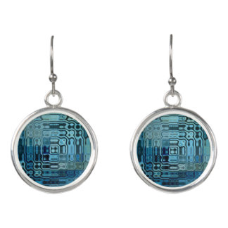 Ice Blue Wonder Design Earrings