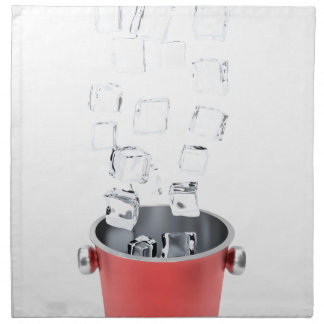 Ice bucket napkin