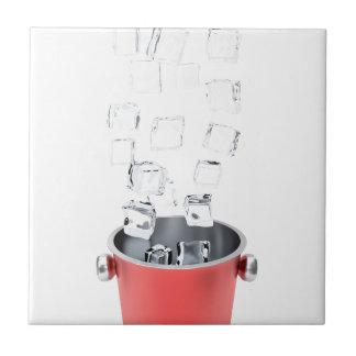 Ice bucket tile