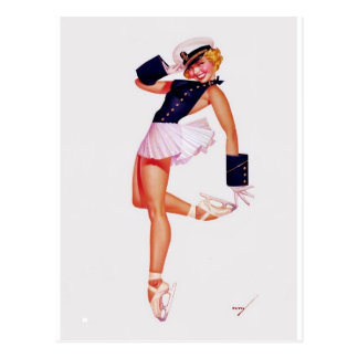 ICE CAPADES BALLET DANCER ~.jpg Postcard