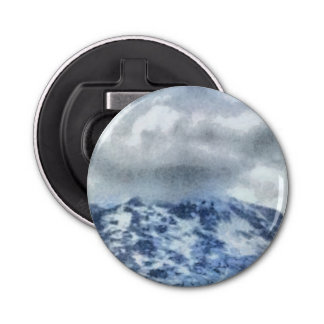 Ice capped mountains bottle opener